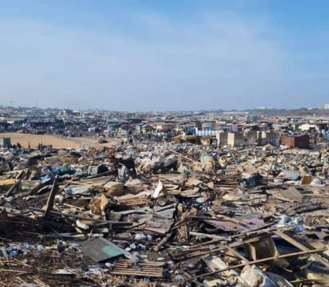 Crisis in Agbogbloshie, Ghana, caused by forced dismantlement of the landfill